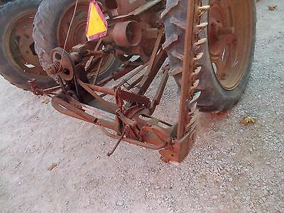 Farmall IH rear mount sickle mower complete w/ brackets Farmall C SC tractor