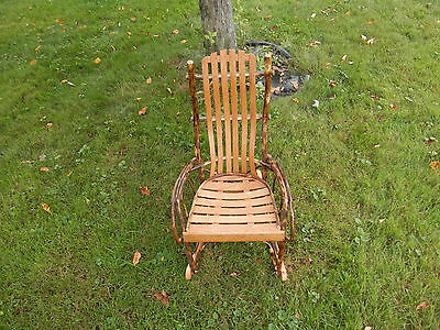 Rustic Hickory Childrens Rocker Amish Made
