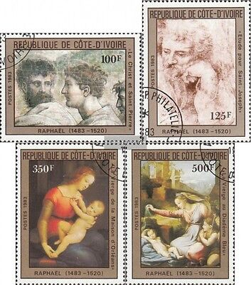 The Ivory Coast 800-803 (complete issue) used 1983 500. Birthda