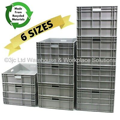 NEW Heavy Duty Industrial XL Jumbo 800x600mm Euro Stacking Crate Boxes