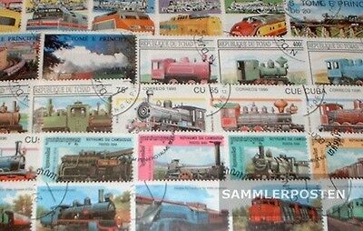 Thematics 300 different Railway stamps