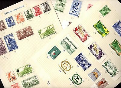 Stamps ~ PAPUA & NEW GUINEA ~ Mounted Mint UNSORTED