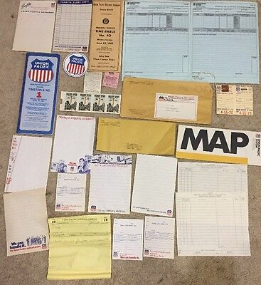 Large Union Pacific Ephemera Collection From Passenger Train And Diesel Eras
