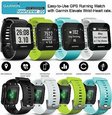 Garmin Forerunner 35 GPS Sports Fitness Running Wrist-based Heart Rate Watch NEW