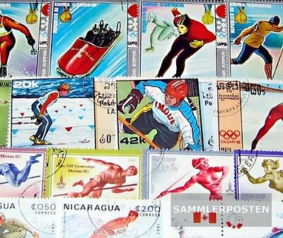 Thematics 150 different Olympia stamps