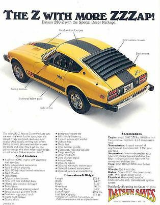 1977 Datsun 280Z Special Decor Package Sales Brochure mw6732-HGFBV4