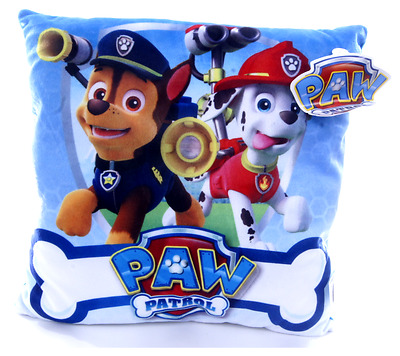 New Official Childrens Blue Chase Marshall Paw Patrol Cushion Pillow