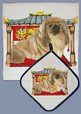 Dish Towel & Pot Holder - Pekingese DP955