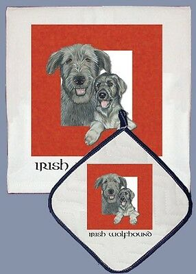 Dish Towel & Pot Holder - Irish Wolfhound DP500
