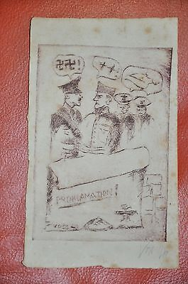 Jan Voss  Original  Etchings Signed And Dated 1940 , Proklamation