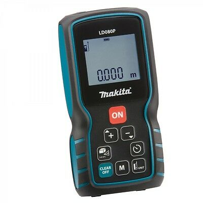 Makita LD080P Laser Distance Meter With Pouch, Hand strap and 2 x AA batteries