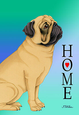Large Indoor/Outdoor Home (TP) Flag - Fawn Pug 62022