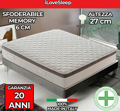Materasso in Memory Foam 11 zone differenziate alto 28cm mod. Deluxe