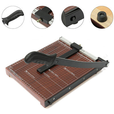 "12"" Paper Cutter A4 To B7 Wood Base Guillotine Page Trimmer Blade Scrap Booking"