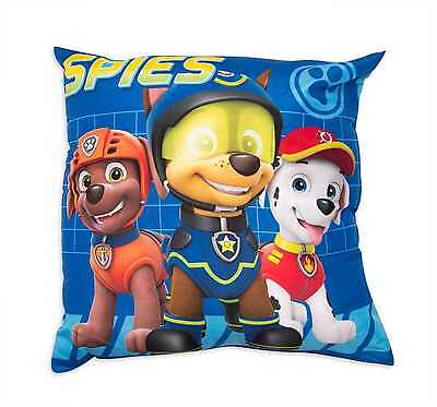 Paw Patrol Spy Square Plush Soft Pillow Childrens Character Bedroom