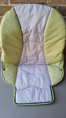NEW Graco DuoDiner High Chair Seat Pad Cushion Green Gray San Marino
