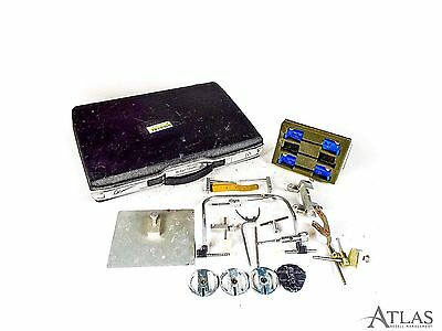 Panadent Dental Lab Facebow, Mounting Plates, Storage Case, & Accessories