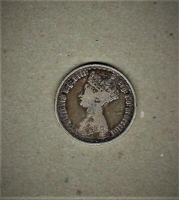 """1853 Great Britain,Florin coin w/ """"Victoria"""" {young Head left) in .925 silver"""