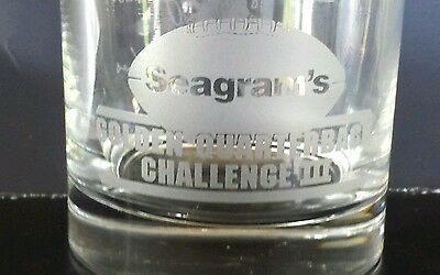 Seagram's golden quarterback  challenge  3 mixed drink glass
