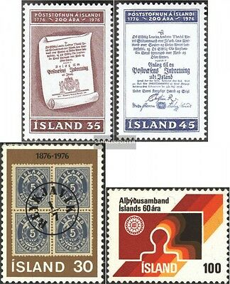 Iceland 516-517,518,519 (complete issue) used 1976 special stam