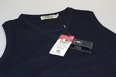 Proquip Lambswool Easy Care Wool Golf V Neck Slip Over Navy Blue S, M, L 10 - 18
