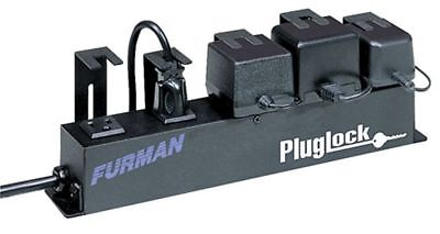 Furman Plug Lock Locking Power Outlet Strip