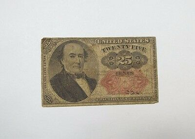 BARGAIN US Fractional Currency 25-Cents Note 5th Issue 1874-76 VERY GOOD