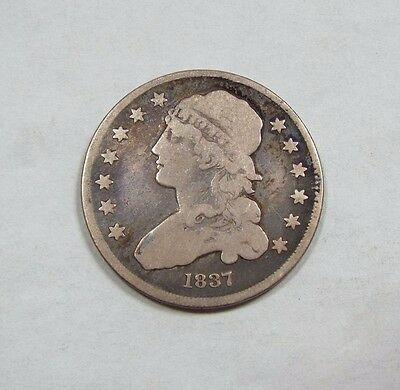 1837 Capped Bust Quarter VERY GOOD Silver 25-Cents