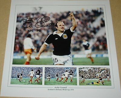 Archie Gemmill Scotland 1978 Holland Goal Personally Hand Signed 12X12 Photo