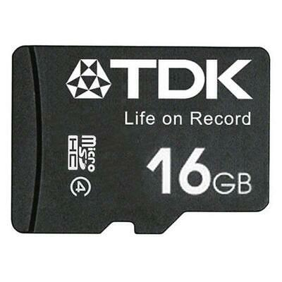 TDK 16GB Micro SDHC SD TF Memory Card For Mobile Phones Tablets  30 MB/s New Uk