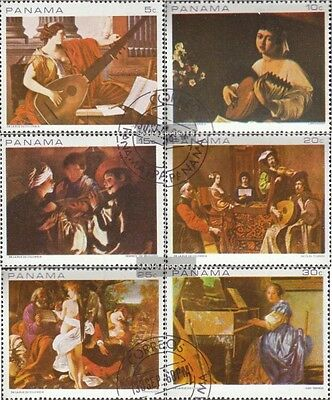 Panama 1087-1092 fine used / cancelled 1968 musical Paintings