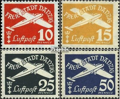Gdansk 298-301 (complete issue) used 1938 Postage stamp, WZ 5