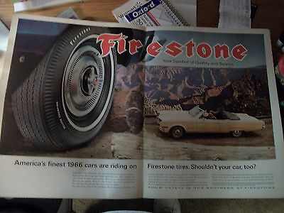 1966 Two Page Firestone Tire Ad!!!!!!!!!!!!!!!!!!!!!
