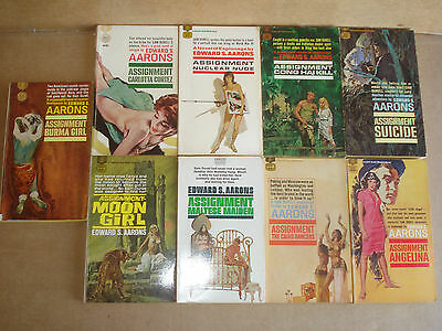 Lot of 9 Edward S. Aarons paperback books Fawcett Gold Medal book