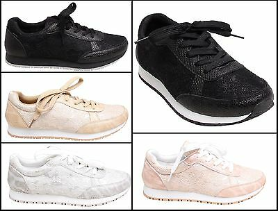 Womens Gym Sports Trainers Shoes Ladies Flats Running Workout Casual Comfortable