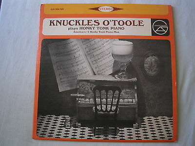 KNUCKLES O'TOOLE Plays Honky Tonk Piano US LP ex/ex