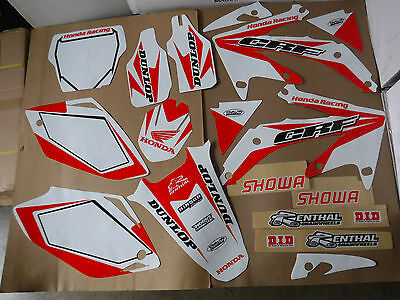 Team Honda Graphics & Number Plate Backgrounds Crf450R 2005 2006 2007 2008 White