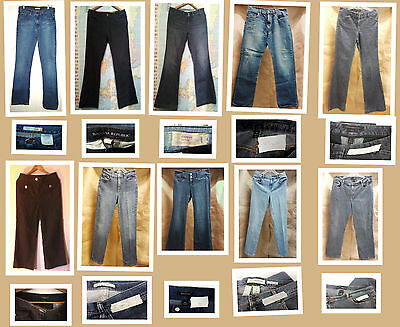 Wholesale JEANS ~ 10 Qty ~ Pre-Owned ~ Many Name Brands ~ Various Sizes -Lengths