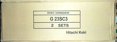 """2 New Hitachi 9"""" Angle Disc Grinder 6,600RPM 110V w/ Wrench and Disc NIB G23SC3"""