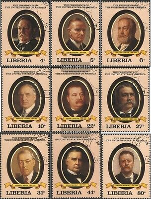 Liberia 1238-1246 fine used / cancelled 1982 US-President
