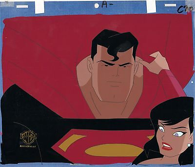 Superman The Animated Series production cel Warner Brothers Seal COA 2*