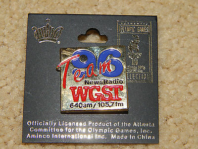 ATLANTA 1996 Olympic Collectible Media Pin Team 96 News Radio WGST 640am 105.7fm