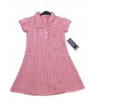 Girls Ex Store Red Checked School Dress  Ages: 3,4,5,6,7,8,9,10 Yrs NEW