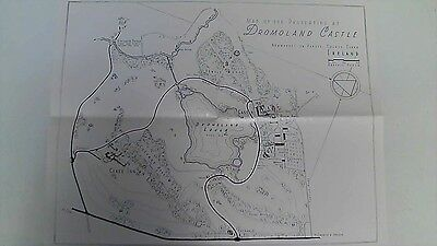 Vintage Map of the Properties at Dromoland Castle IRELAND