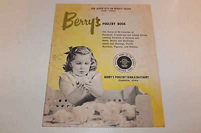 Vintage Berry's Poultry Book 1960s Catalog and Pricing Iowa