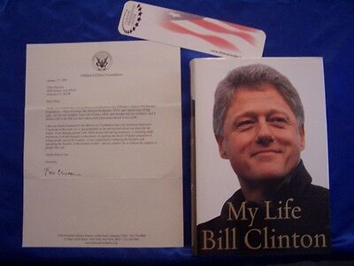 President Bill Clinton signed My Life autograph 1st printing and Typed Letter