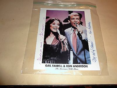 The Lawrence Welk show autographed by Gail Farrell and Ron Anderson