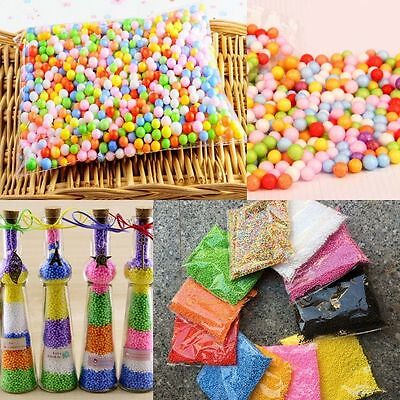 Ranbow Assorted Color Polystyrene Styrofoam Filler Foam Mini Beads Balls DIY New