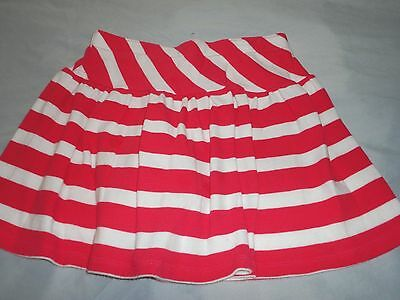 Cute Gymboree Blooming Nautical Fuchcia & White Striped Skirt Skort Size 12