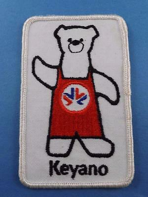 Keyano Bear Patch Crest Vintage Sports Advertising Collector White Twill